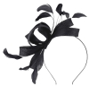 Failsworth Millinery Wide Loops Fascinator in Midnight