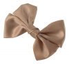 Molly and Rose Faux Satin Hair Bow in Mocha