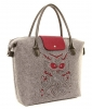 Hawkins Owl Felt Hand Bag in Mulberry