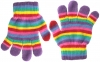 Magic Childrens Stretchy Gloves in Multi-Striped