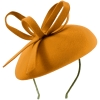Failsworth Millinery Aliceband Wool Pillbox in Mustard