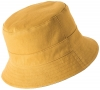 Failsworth Millinery Cotton Reversible Bucket Hat in Mustard