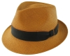 Failsworth Millinery Trilby Panama Hat in Mustard