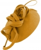 Failsworth Millinery Wool Pillbox in Mustard