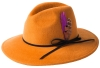 Failsworth Millinery Brushed Wool Felt Trilby in Mustard