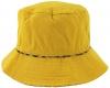 Hawkins Collection Reversible Leopard Print Bucket Sun Hat in Mustard