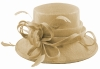 Elegance Collection Sinamay Loops Wedding Hat in Natural