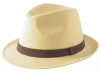 Failsworth Millinery Straw Trilby in Natural