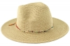 Hawkins Collection Straw Fedora with Bead Band in Natural