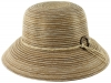 Hawkins Collection Striped Packable Straw Hat in Natural