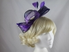 Large Loop Fascinator in Navy & Purple