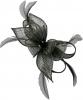 Failsworth Millinery Sinamay Diamante Clip Fascinator in Navy-Silver