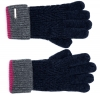 Alice Hannah Wool Knitted Gloves in Navy