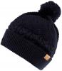 Boardman Finley Cable Knit Beanie Bobble Hat in Navy