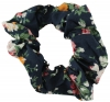 Daisy Daisy Cotton Floral Scrunchy in Navy