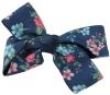 Daisy Daisy Floral Double Bow Hair Clip in Navy