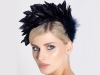 Deb Fanning Millinery Feathered Headpiece in Navy