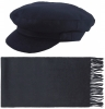 Failsworth Millinery Mariner Melton with Matching Lambswool Scarf in Navy