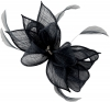 Failsworth Millinery Sinamay Diamante Clip Fascinator in Navy
