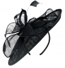 Failsworth Millinery Sinamay Leaves Disc in Navy