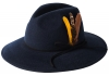 Failsworth Millinery Brushed Wool Felt Trilby in Navy