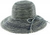 Hawkins Collection Wide Brimmed Straw Hat with String Band in Navy
