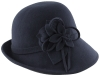Hawkins Collection Wool Felt Vintage Cloche Bucket Hat in Navy