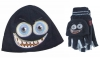 Jiglz Fleece Animal Ski Hat and Gloves in Navy