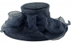 Libby Bea Collapsible Wedding Hat in Navy
