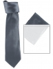 Max and Ellie Mens Tie and Pocket Square Set in Navy