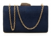 Papaya Fashion Clutch Box Bag in Navy