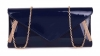 Papaya Fashion Patent Envelope Style Bag in Navy