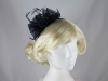 Aurora Collection Rosette and Loops Fascinator in Navy