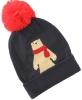 SSP Hats Animal Beanie Bobble Hat in Navy