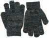 SSP Hats Glitter Gloves in Navy