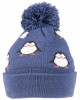 SSP Hats Kids Penguin Beanie Bobble Hat in Navy