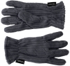 SSP Hats Thermal Patterned Fleece Gloves in Navy