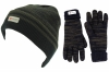 SSP Hats Thinsulate Mens Ski Beanie with Matching Gloves in Navy