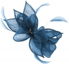 Failsworth Millinery Sinamay Diamante Clip Fascinator in Neptune