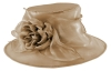 Failsworth Millinery Organza Wedding Hat in Nude-Silver