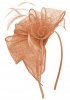 Aurora Collection Rosette and Loops Fascinator in Nude