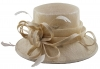 Elegance Collection Sinamay Loops Wedding Hat in Nude