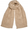 Boardman Darby Ladies Cable Knit Scarf in Oatmeal
