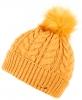 Alice Hannah Madeline Knitted Beanie Bobble Hat in Ochre