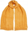 Alice Hannah Madeline Knitted Scarf in Ochre