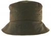 Failsworth Millinery Bow Wax Hat in Olive