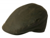 Failsworth Millinery Wax Flat Cap in Olive