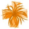 Aurora Collection Biots and Beads Fascinator in Orange