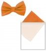 Max and Ellie Mens Bow Tie and Pocket Square Set in Orange