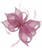 Failsworth Millinery Sinamay Clip Fascinator in Orchid